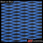 Cut Diamond Groove -2 Tone - Black on Blue