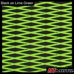 Cut Diamond Groove -2 Tone - Black on Lime Green