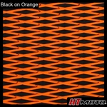 Cut Diamond Groove -2 Tone - Black on Orange