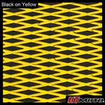 Cut Diamond Groove -2 Tone - Black on Yellow