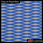 Cut Diamond Groove -2 Tone - Gray on Royal Blue