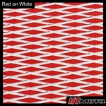 Cut Diamond Groove -2 Tone - Red on White