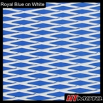 Cut Diamond Groove -2 Tone - Royal Blue on White