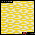 Cut Diamond Groove -2 Tone - Yellow on White