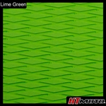 Cut Diamond Groove - Lime Green