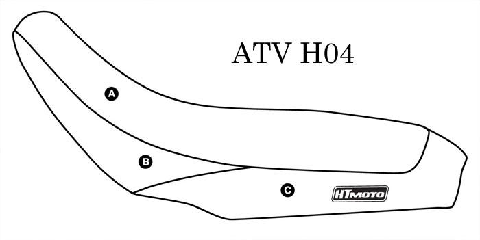 - HONDA TRX 450 R (04-05) Seat Cover #ATV-H04