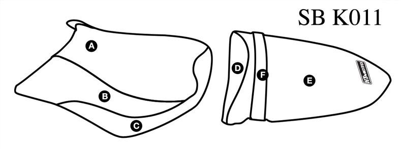 - KAWASAKI ZX-6R / 636 NINJA (05-06) Seat Cover #SB-K011