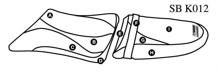 - KAWASAKI ZX-6R / 636 NINJA (03-04) Seat Cover #SB-K012