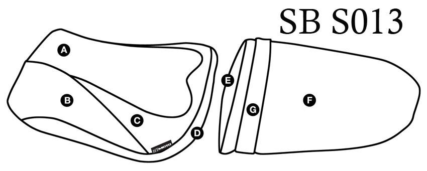 - SUZUKI GSX-R 600 + 750 (04-05) Seat Cover #SB-S013