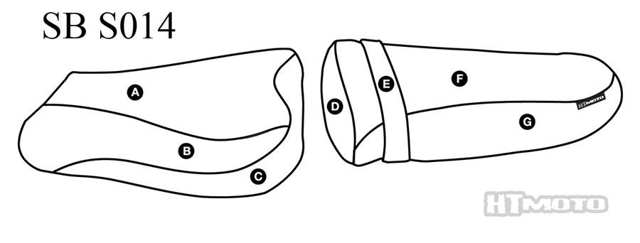 - SUZUKI GSX-R SRAD 600 + 750 (96-99) Seat Cover #SB-S014