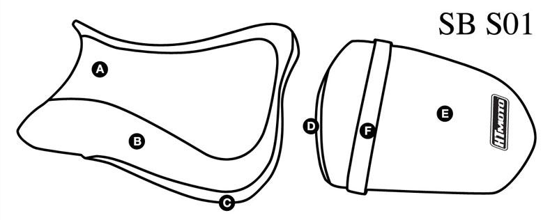 - SUZUKI GSX-R 600 (06-07) + 750 (06) Seat Cover #SB-S01
